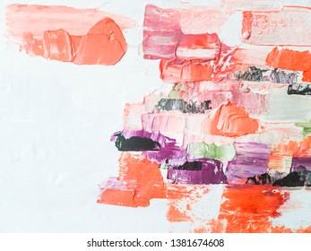 Abstract oil texture background. Modern art. Fragment of artwork. Contemporary art.