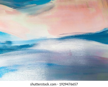 Abstract oil texture background. Paint on canvas. Modern art.
