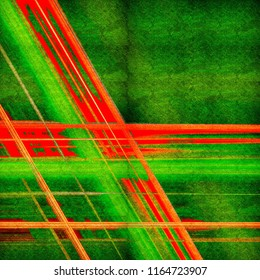 Abstract old grunge background with bright colored lines