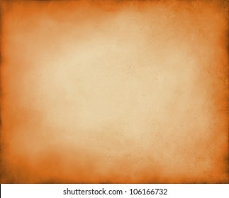 abstract orange background autumn colors, elegant fall background for thanksgiving or halloween with vintage grunge background texture peach center, pastel orange paper or parchment for brochure
