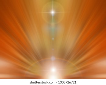 Abstract orange background - futuristic space.