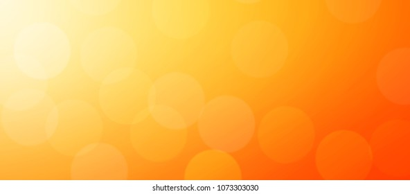 Abstract Orange background layout design with bokeh light.