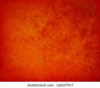 abstract orange background red border warm colors with sponge vintage grunge background texture, distressed rough smeary paint on wall, art canvas or board for brochure ad or website template