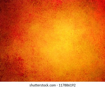 abstract orange background or red background with bright colorful background with vintage grunge background texture gradient design or Thanksgiving warm autumn background invitation or web template