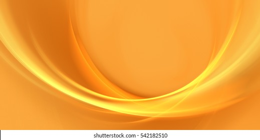 Abstract orange background with waves. Fractal