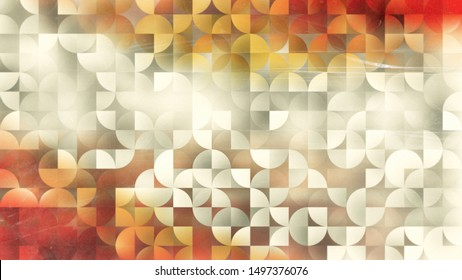 Abstract Orange and Beige Quarter Circles Background Image