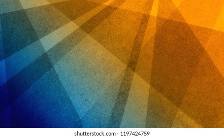 abstract orange and blue background with textured black stripes triangles and lines in modern wallpaper design