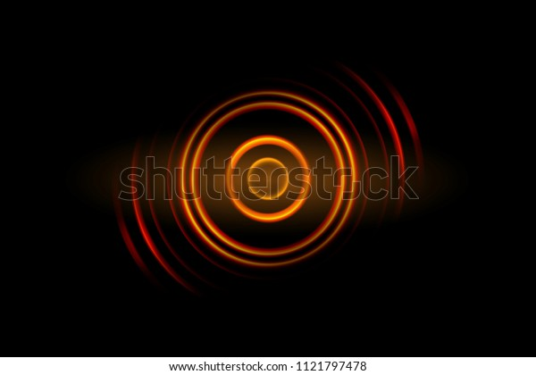 Abstract orange light circle effect background
