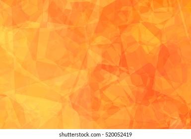 Abstract orange mosaic background. illustration beautiful.