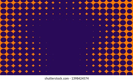 Abstract orange and purle duotone background . Halftone texture . Trendy gradient texture. Design background.