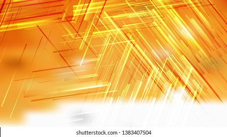 Abstract Orange and White Asymmetric Random Lines Background Graphic