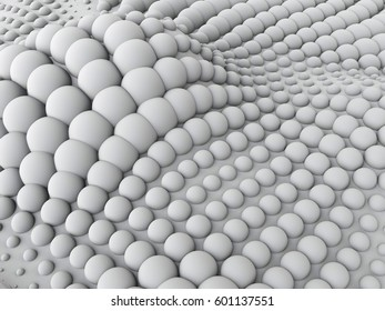 Abstract organic structure background. 3d rendering