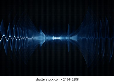 Abstract oscilloscope digital sound sonic wave background