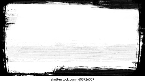 abstract  paint brush stroke black and white transition background, illustration of paint splash with alpha channel