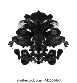 abstract paint watercolor inkblot rorschach isolated on white background