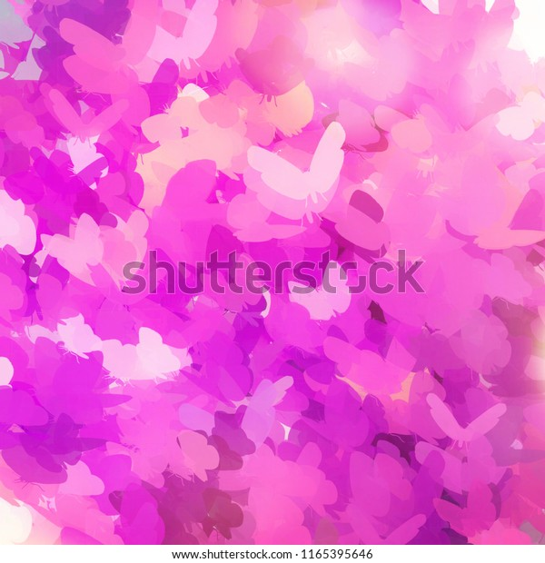 Abstract Painted Art Butterfly Background Abstract Royalty