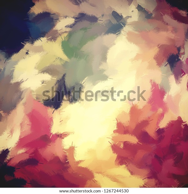 Abstract Painted Art Colorful Feather Background The Arts
