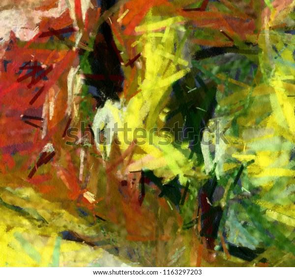 Abstract Painting Art Sale Oil Paint Stock Illustration 1163297203