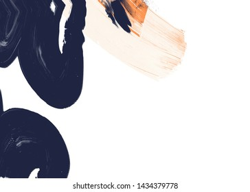 Abstract painting backdrop on concrete wall. 2d illustration.