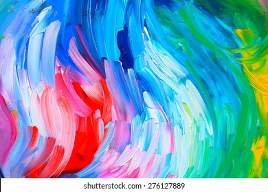 Abstract painting: background - a summer holiday in the city. Blooming. Backgrounds & textures shop.