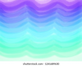 Abstract painting from brush, gradually dark purple to light blue shaped like a curtain.