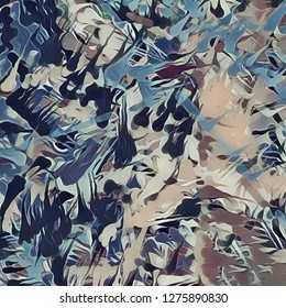 Abstract painting. Brush strokes. Paint Drops Pattern. 3D rendering