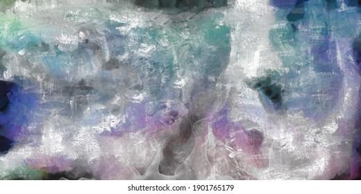 Toile De Peinture Abstraite. Rendu 3D