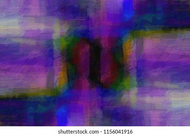Abstract painting in dark colors. Digital drawing