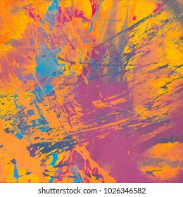 Abstract painting. Ink handmade image. Modern artistic pattern. Creative artwork. Colorful texture. Contemporary art. Artistic canvas.
