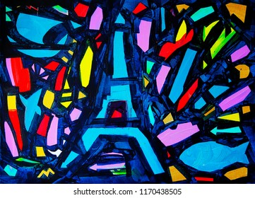 Abstract painting named Come back to Paris