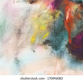 Abstract painting on handmade paper, art background