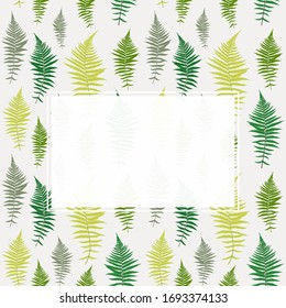 Abstract Palm Leaf Background with Frame.  Illustration