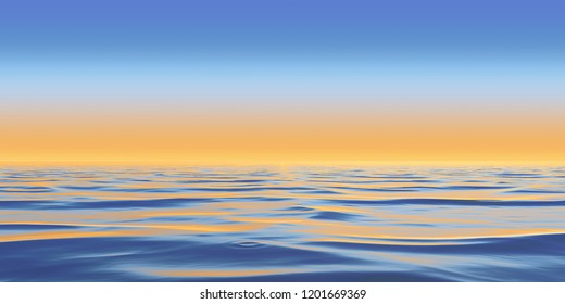 Abstract Panorama Background Design Creativity of Water surface and reflections , 3D Illustration