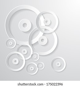 Abstract Paper Circle Background on White Background - Also Available in Vector Version