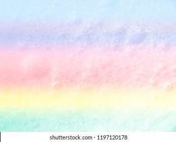 Abstract pastel marble with foam bubbles background.