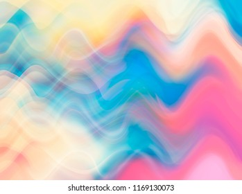Abstract pastel multicolored background with fractal waves. Beautiful illustration.