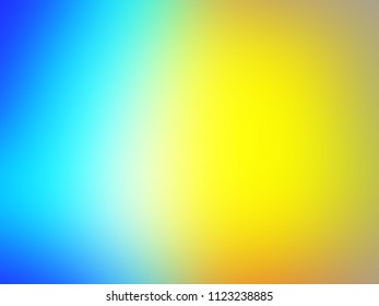 Abstract pastel soft colorful smooth blurred textured background off focus toned in gold, yellow and light blue color