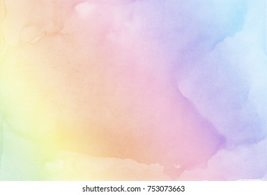 Abstract pastel watercolor background. Rainbow background.