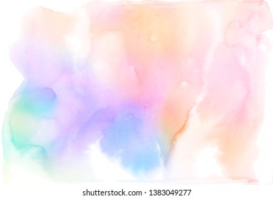 Abstract pastel watercolor paper texture background.