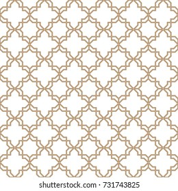 Abstract pattern in Arabian style. Seamless background. Gold and white texture. Graphic modern pattern.