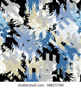 Abstract pattern with modern design. Camo background. Camouflage pattern with watercolor effect. Textile print for bed linen, jacket, package design, fabric and fashion concepts