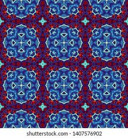 Abstract pattern. Square ornamental regular background. Seamless pattern. Vintage mosaic art pattern.