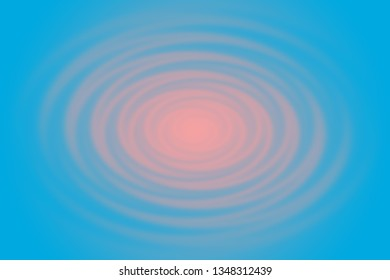 Abstract peach color on blue background