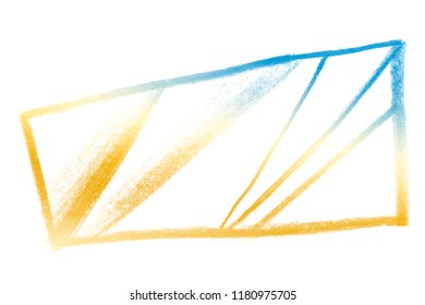 Abstract pencil geometric shape backgrounds and abstraction frame. Raw pencil background. Rough abstract texture.