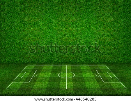 green grass football field high resolution abstract perspective of soccer football field with green grass wall texture background perspective soccer football field green stock illustration