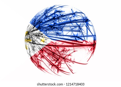 Abstract Philipines sparkling flag, Christmas ball concept isolated on white background