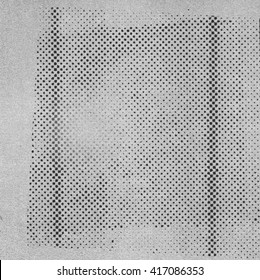 Abstract photocopy texture with halftone pattern