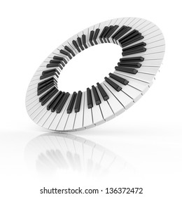 abstract piano 3d illustration