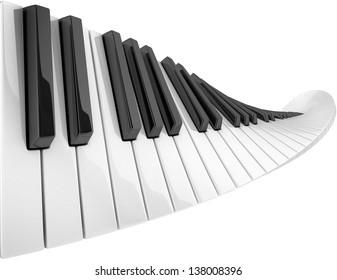 abstract piano keyboard wave