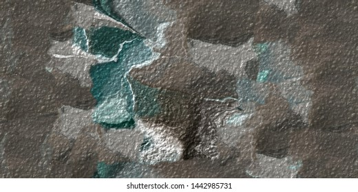 Abstract picture for home decor.Original oil painting on canvas. Abstract art background.Modern art. Contemporary art. Coloring brush strokes in brown, green and white. Seamless patern